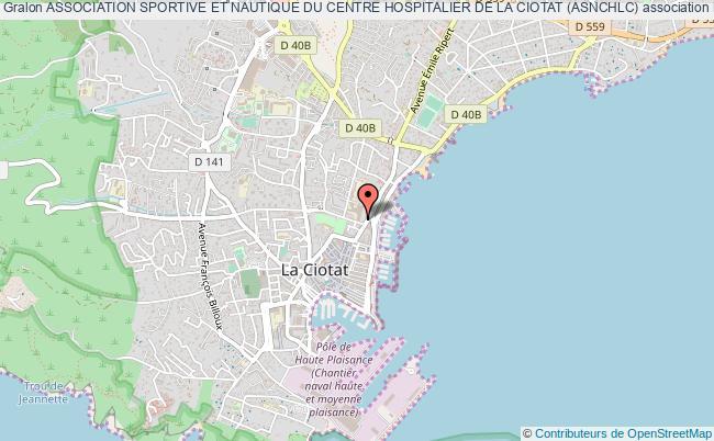 plan association Association Sportive Et Nautique Du Centre Hospitalier De La Ciotat (asnchlc)