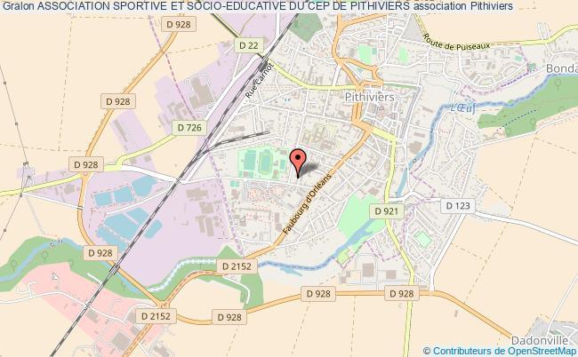 plan association Association Sportive Et Socio-educative Du Cep De Pithiviers
