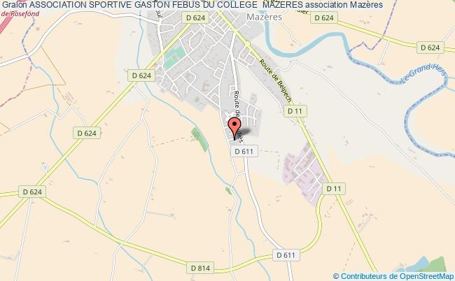 plan association Association Sportive Gaston Febus Du College  Mazeres