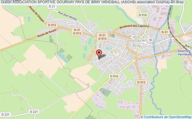 plan association Association Sportive Gournay Pays De Bray Handball (asghb) Gournay-en-Bray