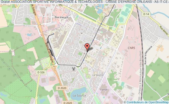 plan association Association Sportive Informatique & Technologies - Caisse D'epargne Orleans - As It-ce