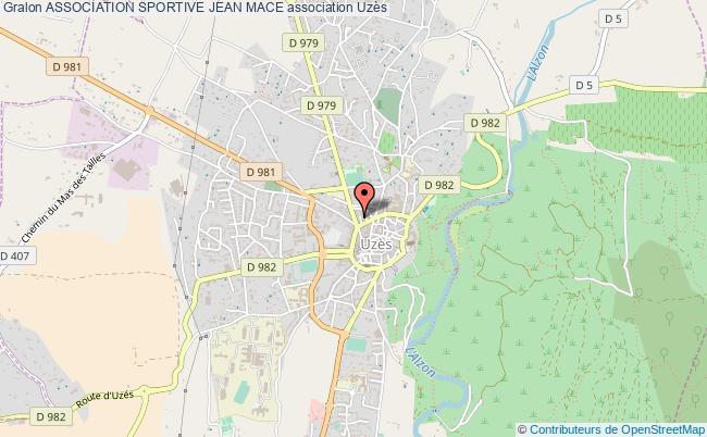 plan association Association Sportive Jean Mace Uzès