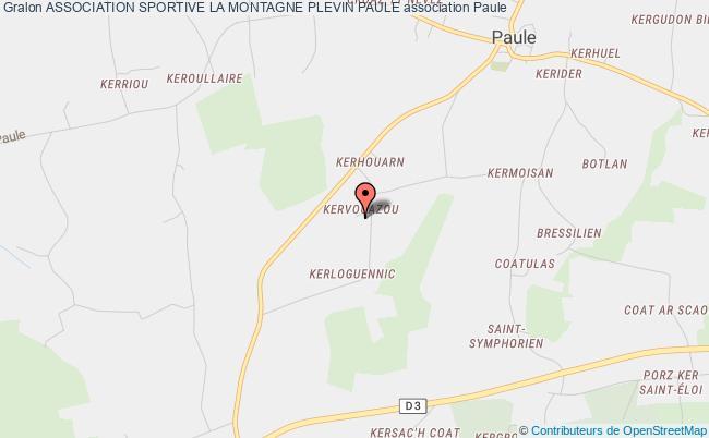 plan association Association Sportive La Montagne Plevin Paule