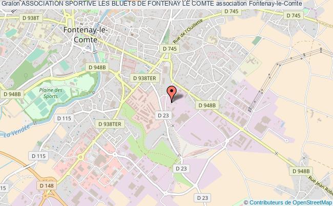 plan association Association Sportive Les Bluets De Fontenay Le Comte
