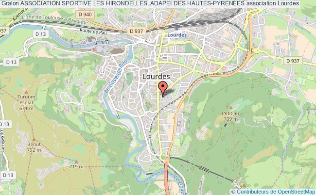 plan association Association Sportive Les Hirondelles, Adapei Des Hautes-pyrÉnÉes