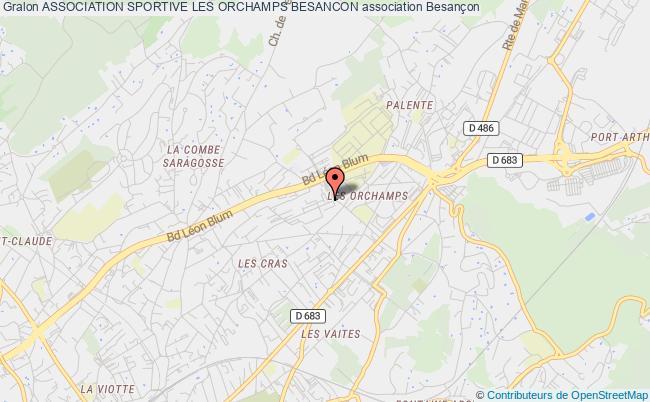 plan association Association Sportive Les Orchamps Besancon