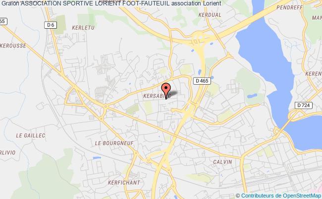 plan association Association Sportive Lorient Foot-fauteuil