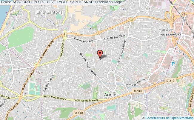 plan association Association Sportive Lycee Sainte Anne