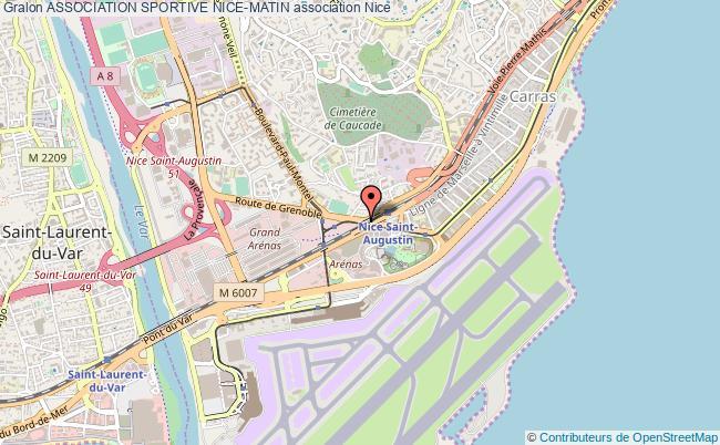 plan association Association Sportive Nice-matin Nice