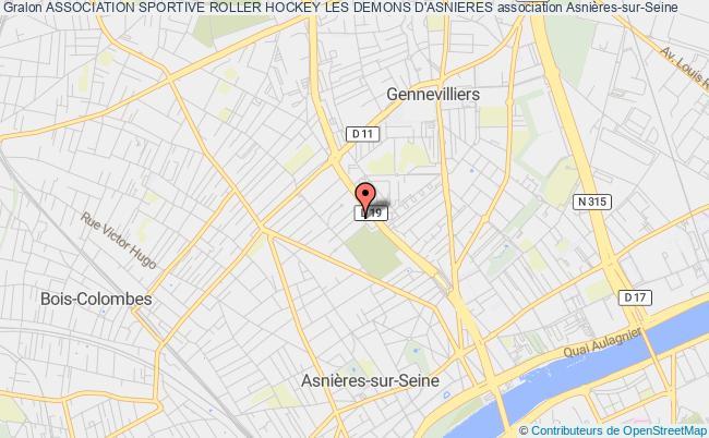 plan association Association Sportive Roller Hockey Les Demons D'asnieres Asnières-sur-Seine