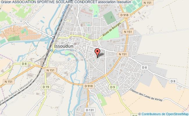 plan association Association Sportive Scolaire Condorcet Issoudun