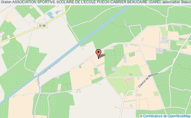 plan association Association Sportive Scolaire De L'ecole Puech-cabrier Beaucaire (gard)