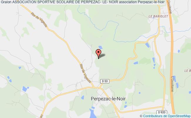 plan association Association Sportive Scolaire De Perpezac- Le- Noir