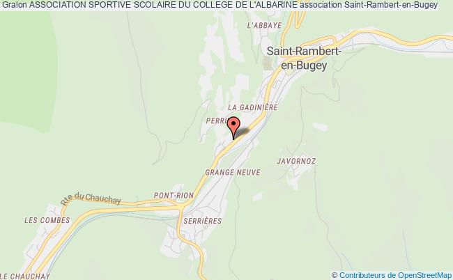 plan association Association Sportive Scolaire Du College De L'albarine