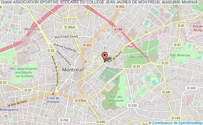 plan association Association Sportive Scolaire Du College Jean Jaures De Montreuil