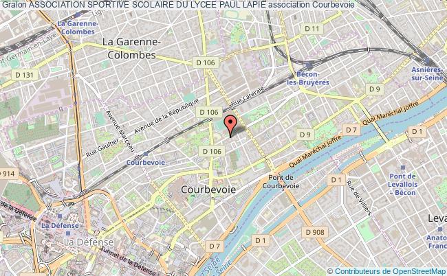 plan association Association Sportive Scolaire Du Lycee Paul Lapie Courbevoie