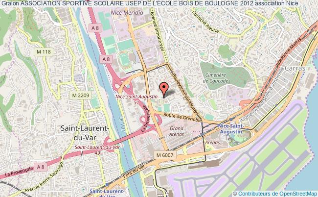 plan association Association Sportive Scolaire Usep De L'ecole Bois De Boulogne 2012