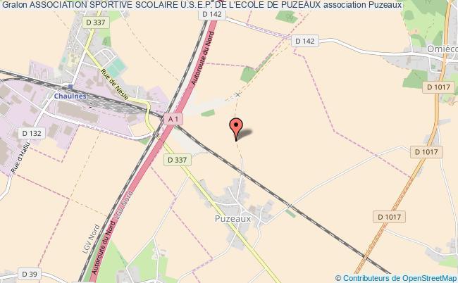 plan association Association Sportive Scolaire U.s.e.p. De L'ecole De Puzeaux