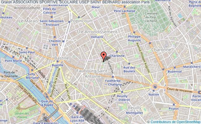 plan association Association Sportive Scolaire Usep Saint Bernard