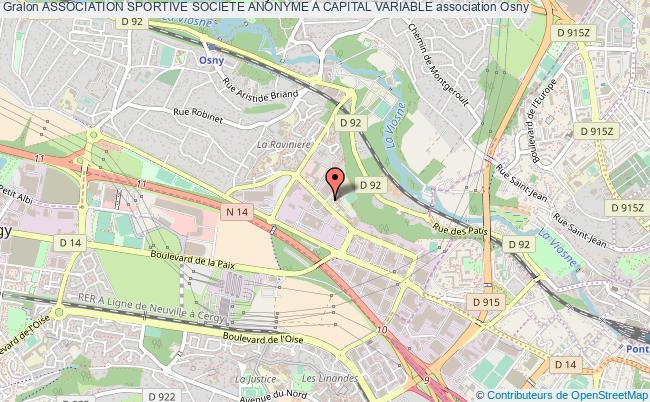 plan association Association Sportive Societe Anonyme A Capital Variable Osny