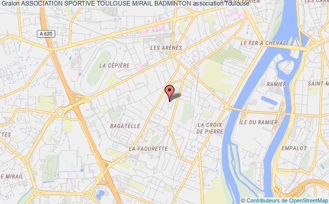 plan association Association Sportive Toulouse Mirail Badminton