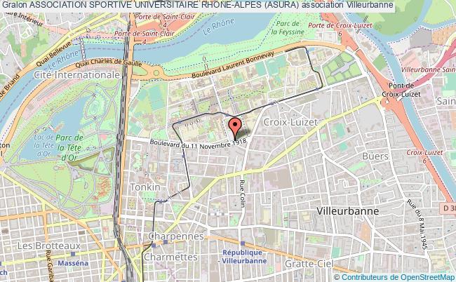 plan association Association Sportive Universitaire Rhone-alpes (asura)