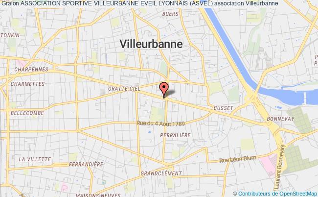 plan association Association Sportive Villeurbanne Eveil Lyonnais (asvel)
