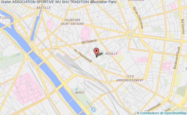 plan association Association Sportive Wu Shu Tradition Paris