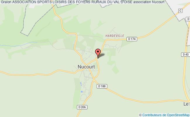 plan association Association Sports Loisirs Des Foyers Ruraux Du Val D'oise Nucourt