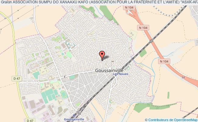 """plan association Association Sumpu Do Xanaaxu Kafo (association Pour La FraternitÉ Et L'amitiÉ) """"asxk-afa"""" Goussainville"""