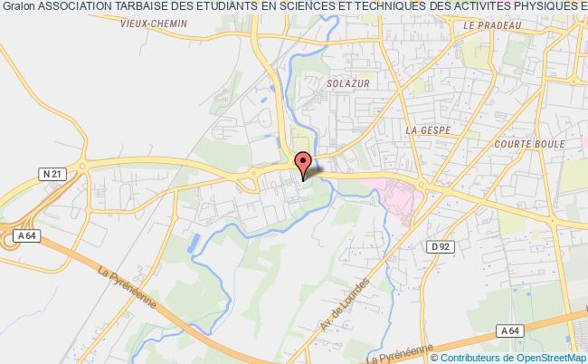 plan association Association Tarbaise Des Etudiants En Sciences Et Techniques Des Activites Physiques Et Sportives (atestaps) Tarbes