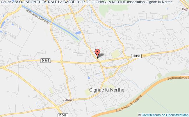 plan association Association Theatrale La Cabre D'or De Gignac La Nerthe Gignac-la-Nerthe