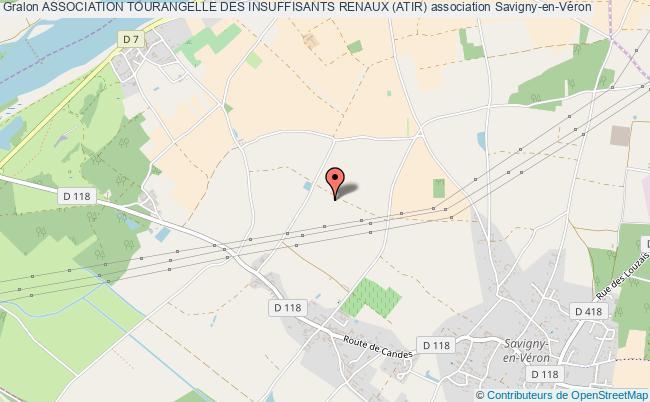 plan association Association Tourangelle Des Insuffisants Renaux (atir) Savigny-en-Véron