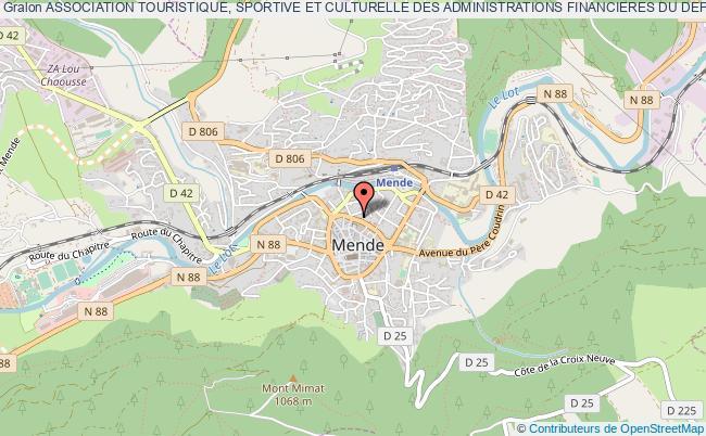 plan association Association Touristique, Sportive Et Culturelle Des Administrations Financieres Du Departement De La Lozere