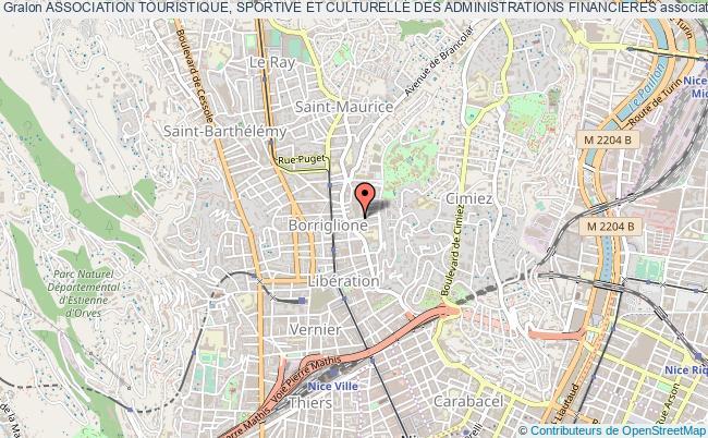 plan association Association Touristique, Sportive Et Culturelle Des Administrations Financieres Nice