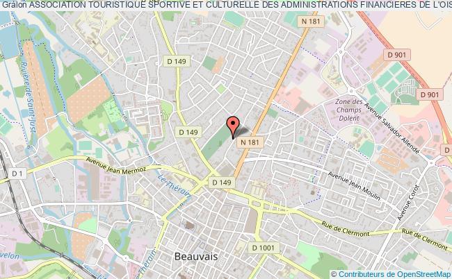 plan association Association Touristique Sportive Et Culturelle Des Administrations Financieres De L'oise - A.t.s.c.a.f. Beauvais