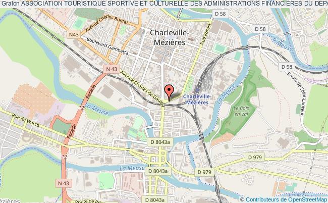 plan association Association Touristique Sportive Et Culturelle Des Administrations Financieres Du Departement Des Ardennes