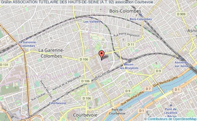 plan association Association Tutelaire Des Hauts-de-seine (a.t. 92) Courbevoie