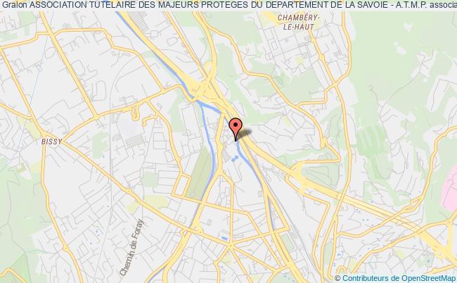 plan association Association Tutelaire Des Majeurs Proteges Du Departement De La Savoie - A.t.m.p.