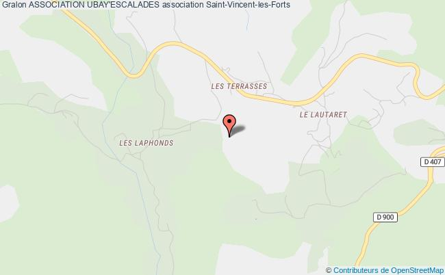 plan association Association Ubay'escalades Saint-Vincent-les-Forts