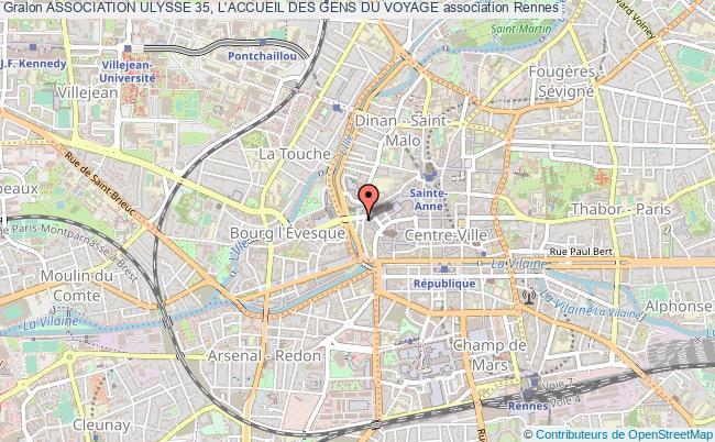 plan association Association Ulysse 35, L'accueil Des Gens Du Voyage Rennes