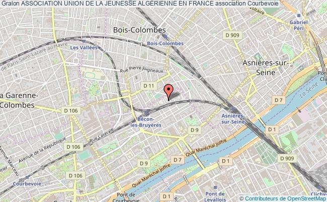 plan association Association Union De La Jeunesse AlgÉrienne En France Courbevoie