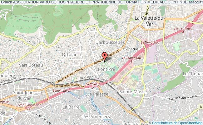 plan association Association Varoise Hospitaliere Et Praticienne De Formation Medicale Continue