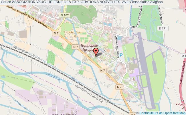 plan association Association Vauclusienne Des Explorations Nouvelles  Aven