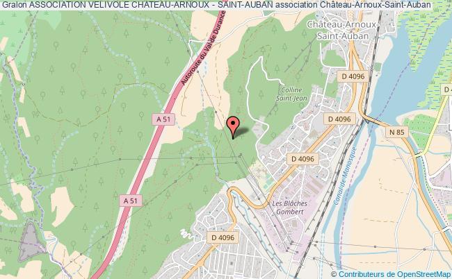 plan association Association Velivole Chateau-arnoux - Saint-auban