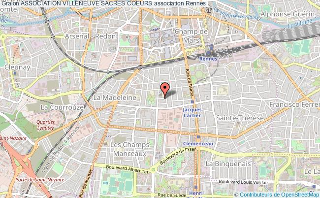 plan association Association Villeneuve Sacres Coeurs Rennes