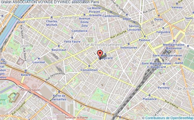 plan association Association Voyage D'yvinec Paris