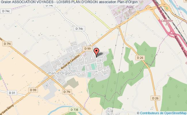 plan association Association Voyages - Loisirs Plan D'orgon