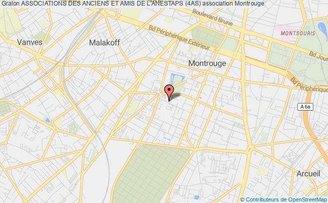 plan association Associations Des Anciens Et Amis De L'anestaps (4as) Montrouge