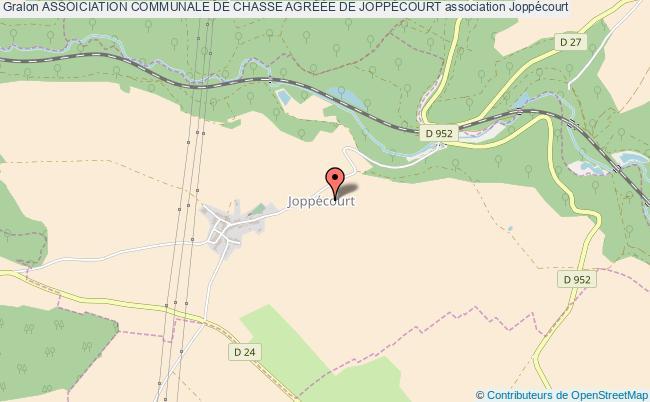 plan association Assoiciation Communale De Chasse AgrÉÉe De JoppÉcourt